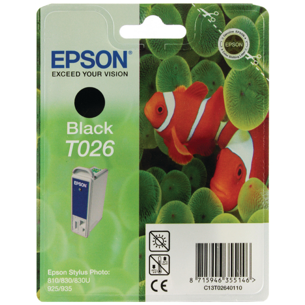 Epson T026 Black Inkjet Cartridge C13T02640110 / T0264