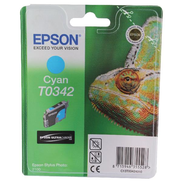 Epson T0342 Cyan Inkjet Cartridge C13T03424010 / T0342