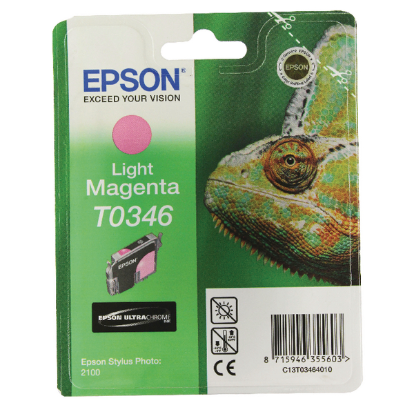Epson T0346 Light Magenta Inkjet Cartridge C13T03464010 / T0346