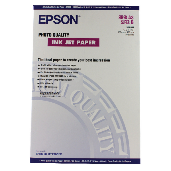 Epson White A3+ Photo Inkjet Paper (100 Pack) C13S041069