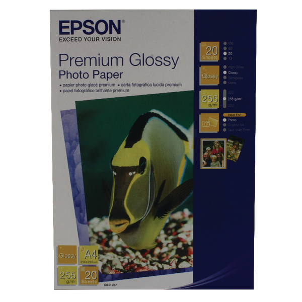 Epson Premium Glossy A4 Photo Paper (20 Pack) C13S041287