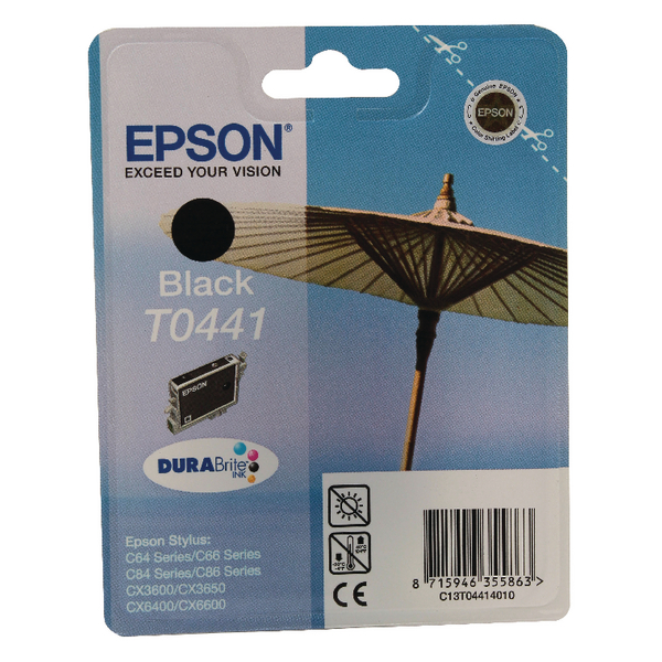 Epson T0441 Black Inkjet Cartridge C13T04414010 / T0441