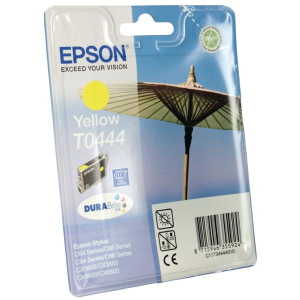 Epson T0444 High Yield Yellow Inkjet Cartridge C13T04444010 / T0444