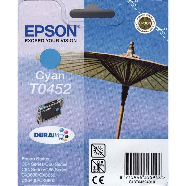Epson T0452 Cyan Inkjet Cartridge C13T04524010 / T0452