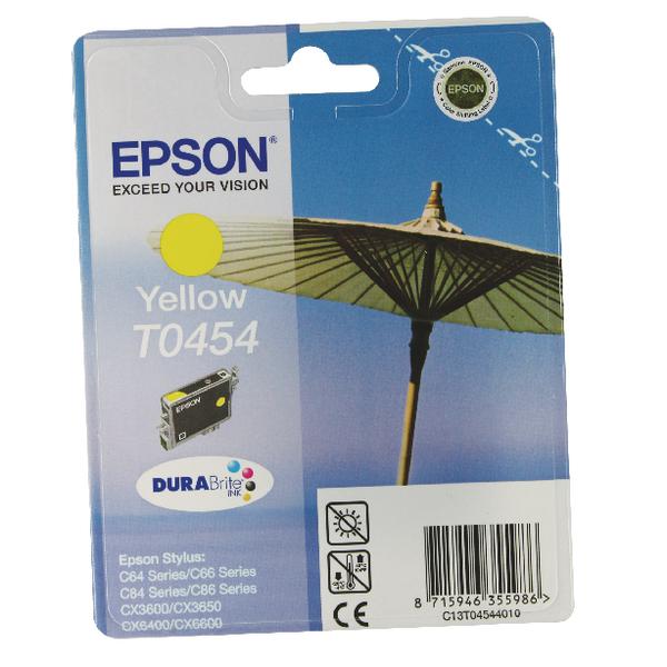 Epson T0454 Yellow Inkjet Cartridge C13T04544010 / T0454