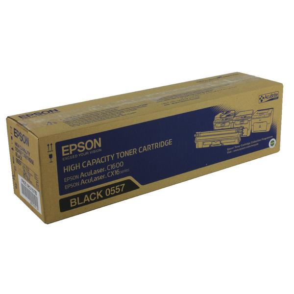 Epson AcuLaser C1600/CX16 Black High Capacity Toner Cartridge 2.7K C13S050557