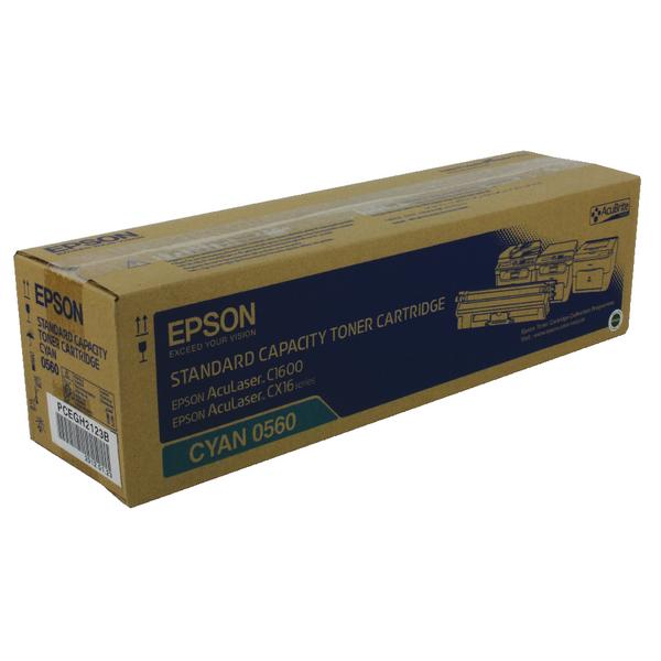 Epson AcuLaser C1600/CX16 Cyan Toner Cartridge 1.6K C13S050560