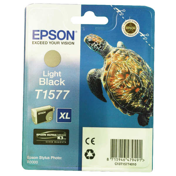 Epson T1577 Light Black Inkjet Cartridge C13T15774010 / T1577