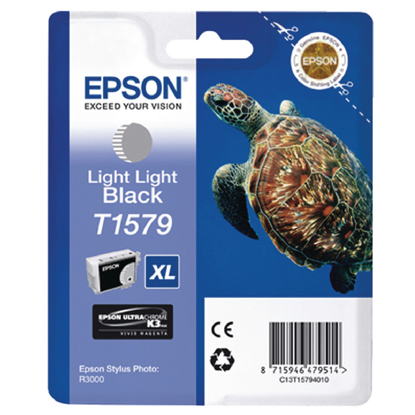 Epson T1579 Light Light Black Inkjet Cartridge C13T15794010 / T1579