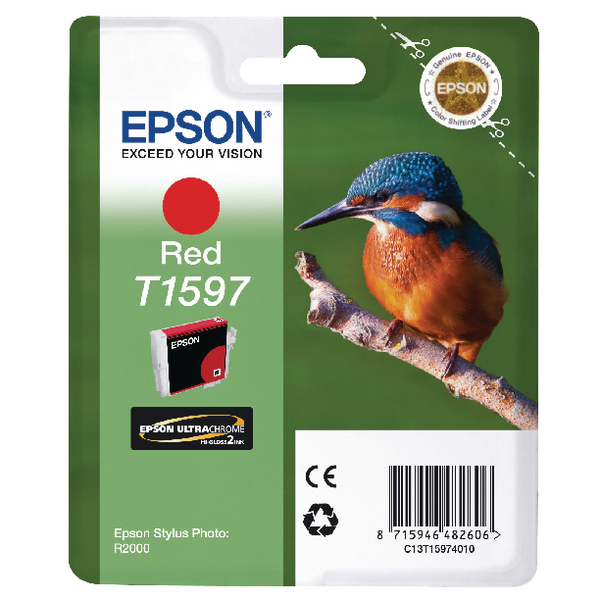 Epson T1597 Red Inkjet Cartridge C13T15974010 / T1597