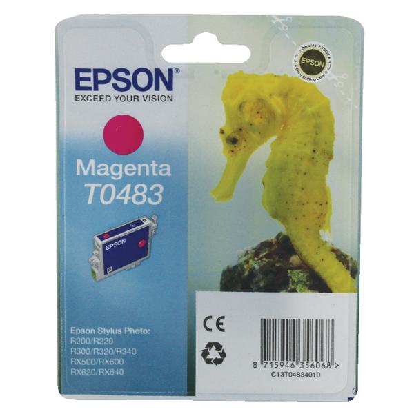 Epson T0483 Magenta Inkjet Cartridge C13T04834010 / T0483