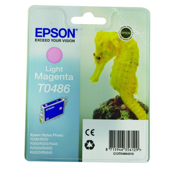 Epson T0486 Light Magenta Inkjet Cartridge C13T04864010 / T0486