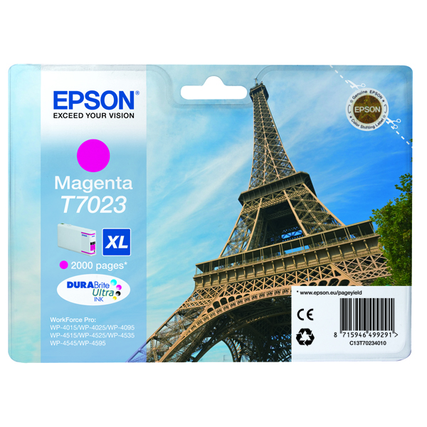 Epson T702 Ink Cart XL Mag C13T70234010