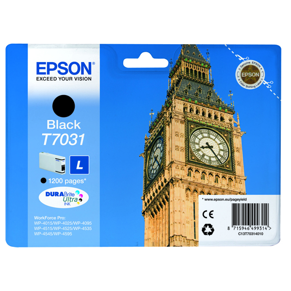 Epson T7031 Black Inkjet Cartridge C13T70314010 / T7031