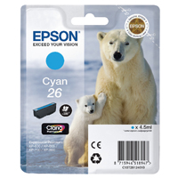 Epson 26 Cyan Inkjet Cartridge C13T26124010 / T2612