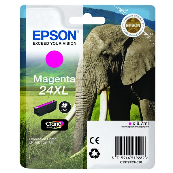 Epson 24XL High Yield Magenta Inkjet Cartridge C13T24334010 / T2434