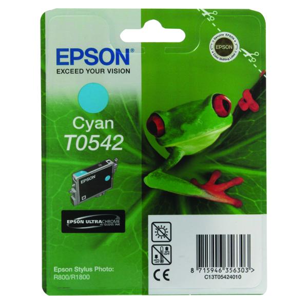 Epson T0542 Cyan Inkjet Cartridge C13T05424010 / T0542