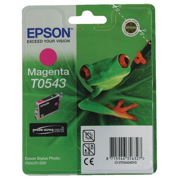 Epson T0543 Magenta Inkjet Cartridge C13T05434010 / T0543
