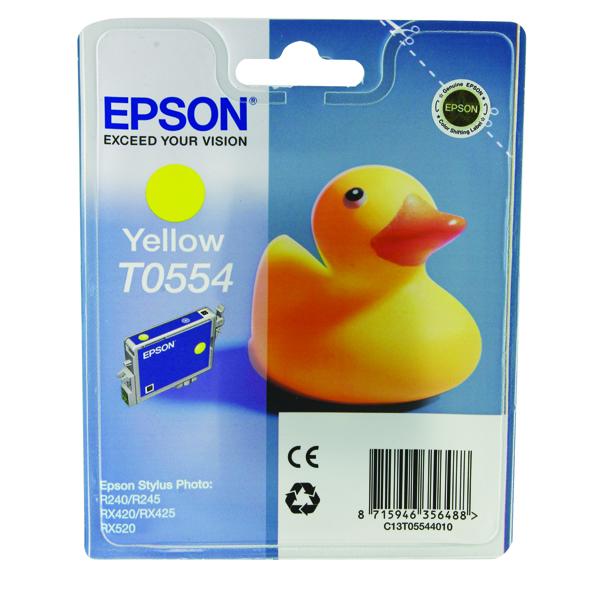 Epson T0554 Yellow Inkjet Cartridge C13T05544010 / T0554