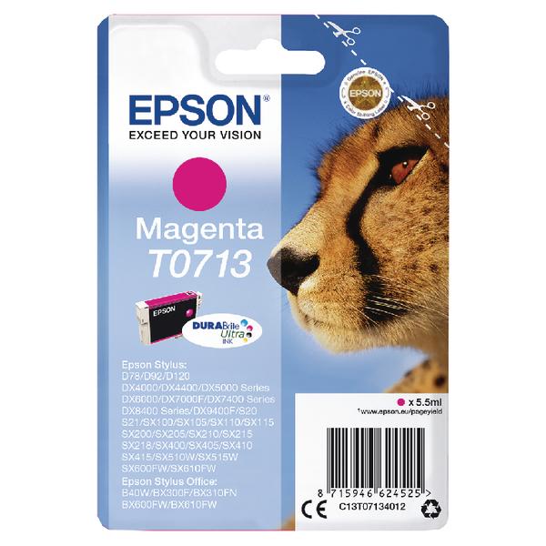 Epson T0713 Magenta Inkjet Cartridge C13T07134012