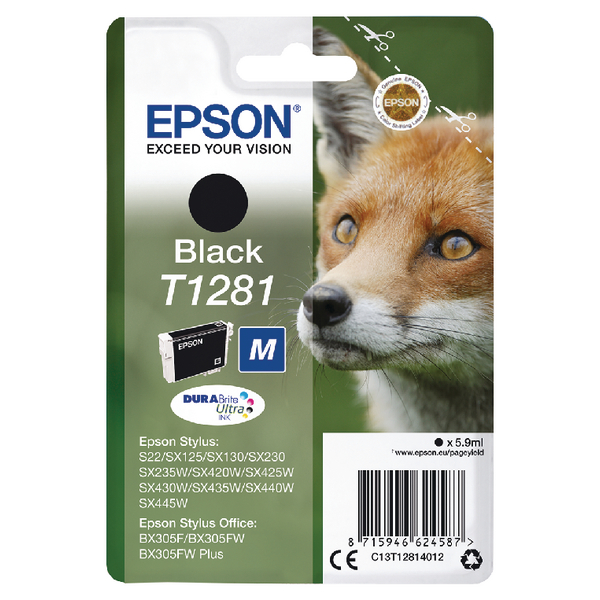 Epson T1281 Black Inkjet Cartridge