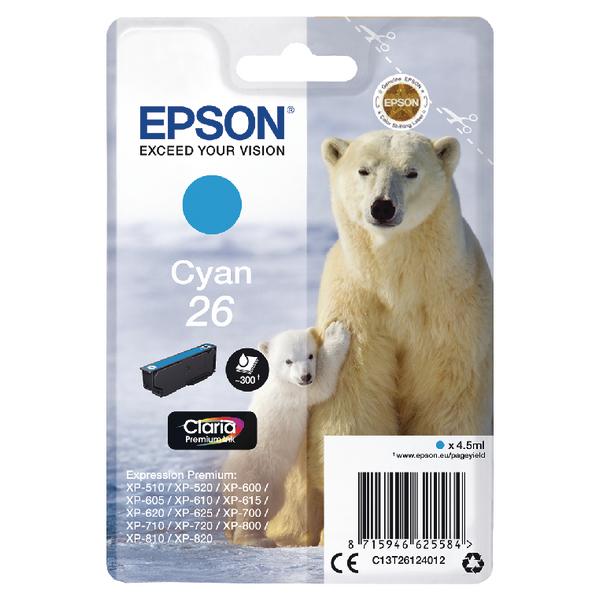Epson 26 Cyan Inkjet Cartridge