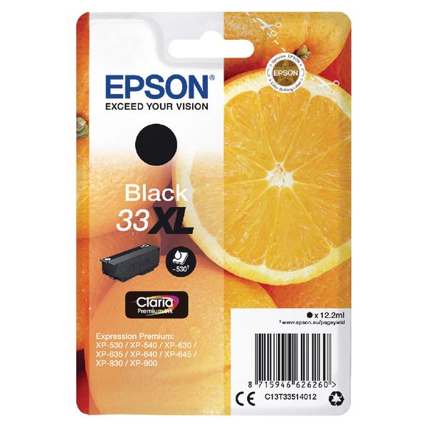 Epson 33XL Black Inkjet Cartridge C13T33514012