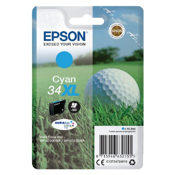 Epson Cyan 34XL DURABrite Ink