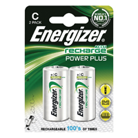 Energizer C Rechargeable Batteries NiMH (Pack of 2) HR14