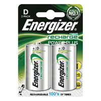 Image for Energizer D Rechargeable Batteries NiMH (Pack of 2) HR20