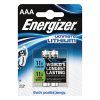 Energizer AAA Ultimate Lithium Batteries (Pack of 2) 632962