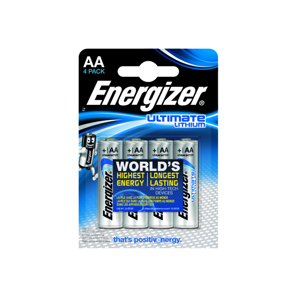 Energizer Ultimate AA Lithium Battery (4 Pack) 632964