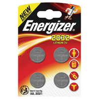 Energizer Speciality Lithium Battery 2032/CR2032 (Pack of 4) 637762