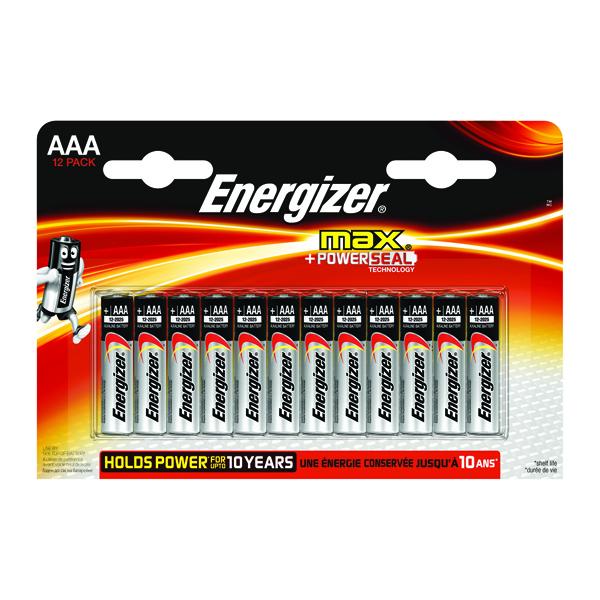 Energizer MAX E92 AAA Batteries (12 Pack) E300103700