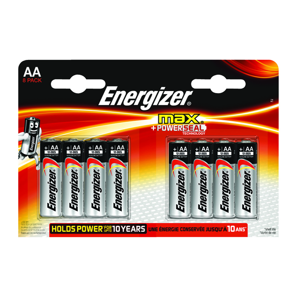 Energizer MAX E91 AA Batteries (Pack of 8) E300112400