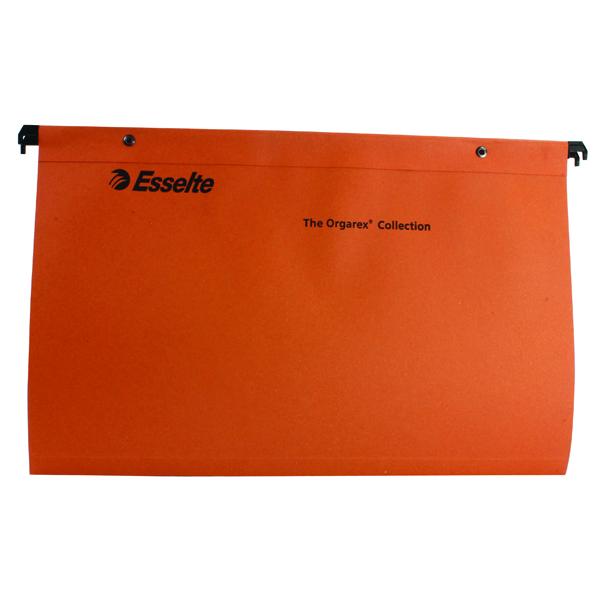 Esselte Orange Suspension Foolscap File V (Pack of 50) 10402