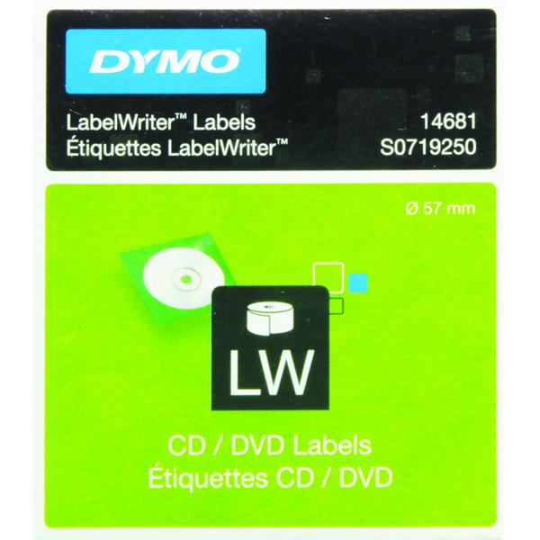Dymo CD/DVD Label White 14681 (Pack of 160) S0719250