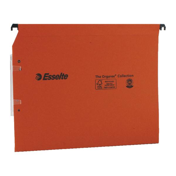 Esselte Orgarex Orange Lateral A4 File 30mm (25 Pack) 21629