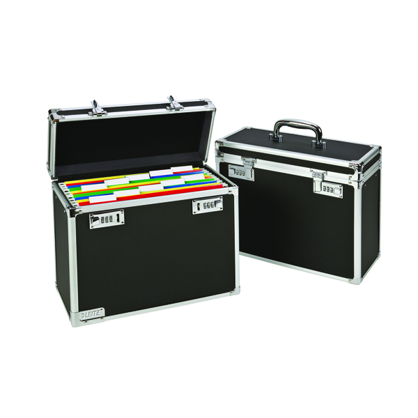 Leitz Vaultz Black Mobile Filing Case (Pack of 1) 67170095