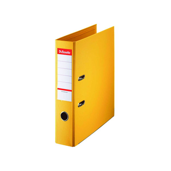 Esselte A4 Polypropylene 75mm Yellow Lever Arch File (Pack of 10) 48061