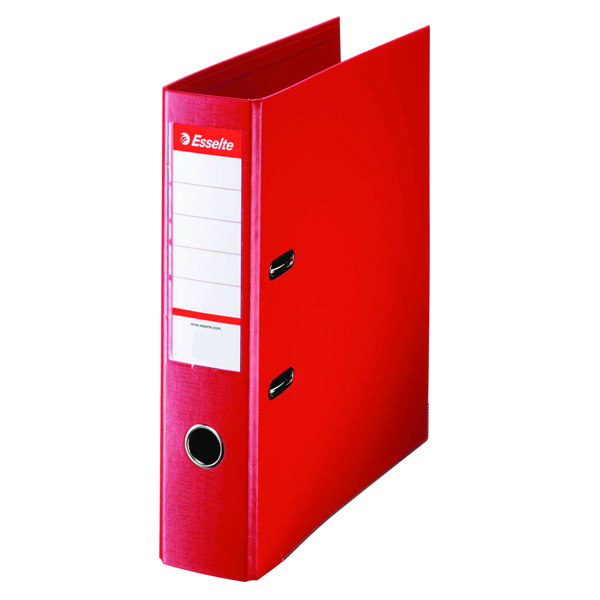 Esselte A4 Polypropylene 75mm Red Lever Arch File (Pack of 10) 48063