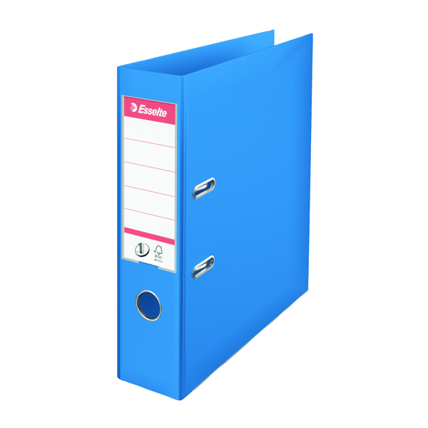 Esselte A4 Polypropylene 75mm Blue Lever Arch File (Pack of 10) 48065