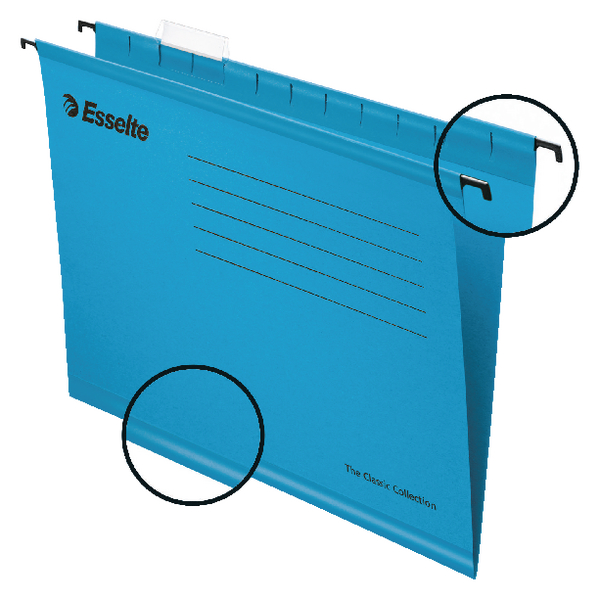 Esselte Classic A4 Blue Suspension File Pack of 25 90311