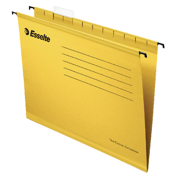 Esselte Classic A4 Yellow Suspension File Pack of 25 90314
