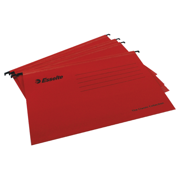 Esselte Classic A4 Red Suspension File Pack of 25 90316