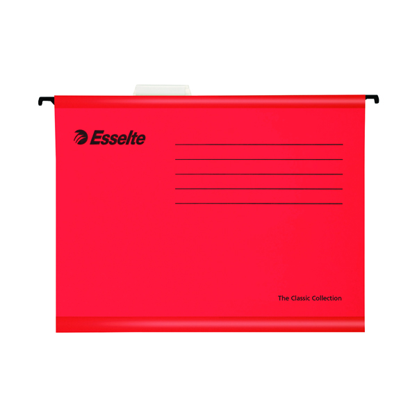Esselte Classic Red Suspension File Foolscap (Pack of 25) 90336