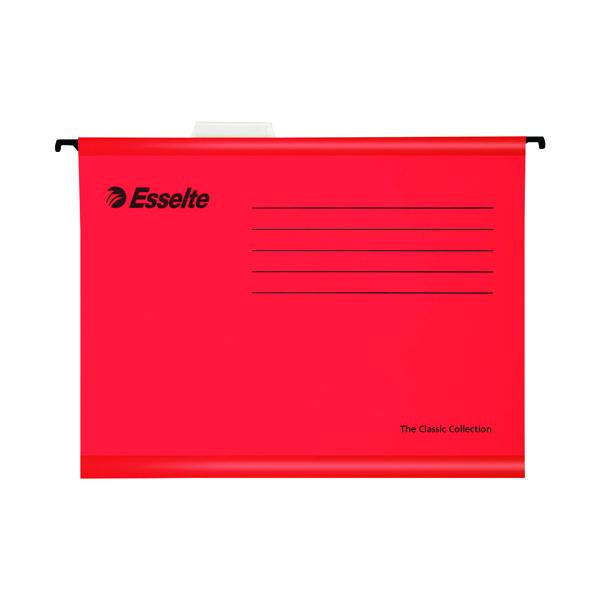 Esselte Classic Foolscap Red Suspension File Pack of 25 90336