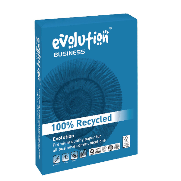 Evolution Business A3 Recycled Paper 80gsm White Ream EVBU4280 (Pack of 500)