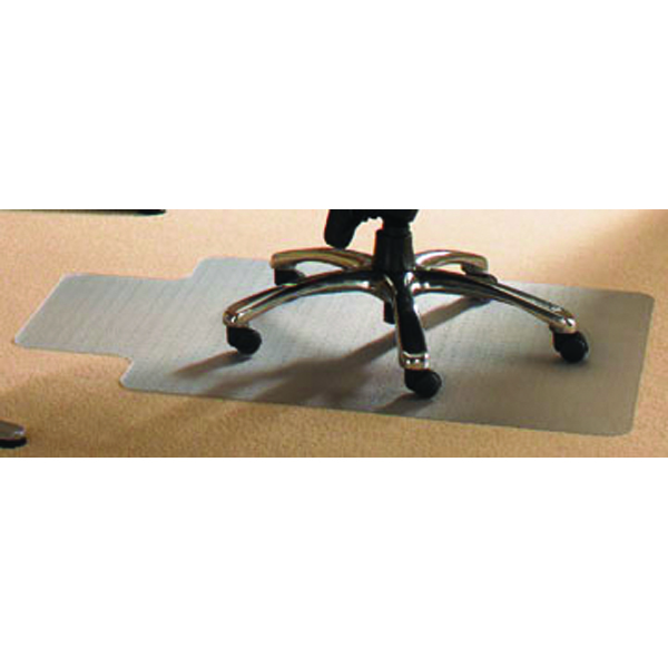 Cleartex PVC Chair Mat Carpet Lipped 1150x1340mm Clear 11341525LV