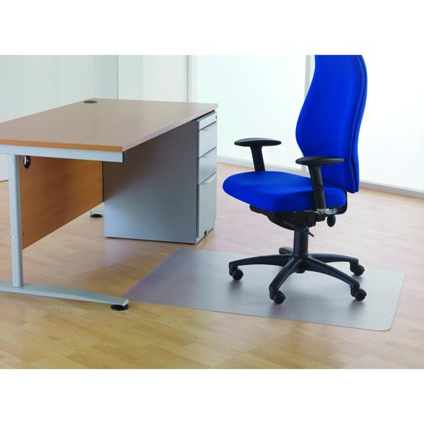Cleartex Clear 1200x1500mm Chair Mat For Hard Floors KF73650